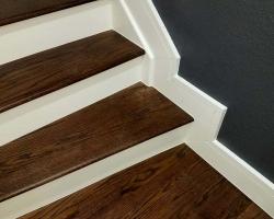 Stairway Staining & Trim Detail