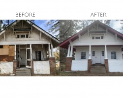 Renovation Exterior Painting - Before & After