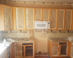 Cabinet Painting - Masking & Prep Work