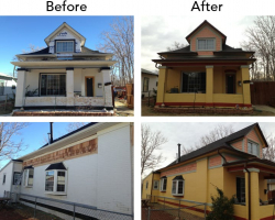 Before and after of a Denver area home.